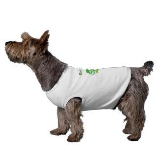 Streifen Sie Barke, die ist ab, was Baum lustigen  Ärmelfreies Hunde-Shirt
