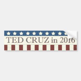 Streifen Ted-Cruz Präsidenten-2016 Sterne Autoaufkleber