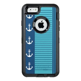 Streifen-und Anker-modischer Seeentwurf OtterBox iPhone 6/6s Hülle