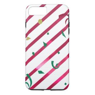 Streifen und Confetti iPhone 8 Plus/7 Plus Hülle