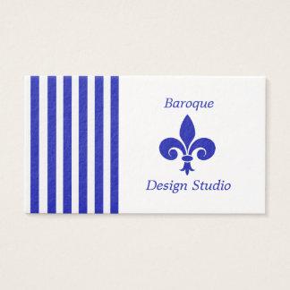 Streifen und Lilien-Geschäfts-Karten Visitenkarte