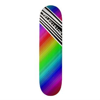 Streifen-vertikaler Griff-Regenbogen Skateboard