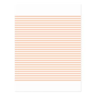 Streifen - Weiß und Aprikose Postkarte
