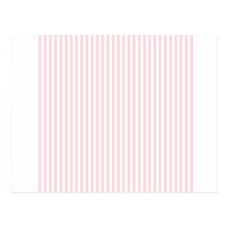 Streifen - weiß und blaß - Rosa Postkarte