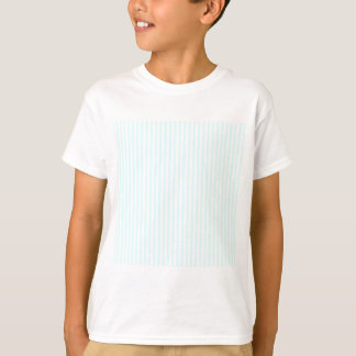 Streifen - Weiß und Celeste T-Shirt