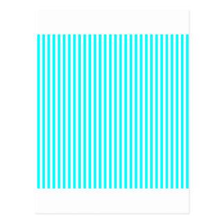 Streifen - weiß und cyan-blau postkarte