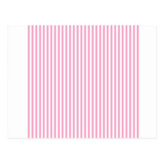Streifen - Weiß und Gartennelken-Rosa Postkarte