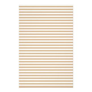 Streifen - Weiß und TAN Personalisierte Druckpapiere