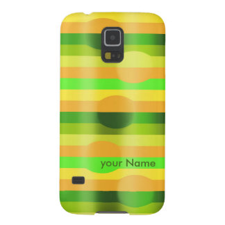 Streifendesign mit Kugeln your Name Galaxy S5 Hülle