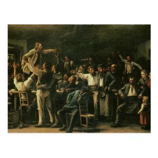 Streik, 1895 postkarte