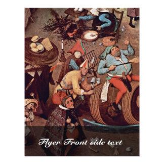 Streit des Karnevals mit geliehenem Detail durch Bedruckte Flyer