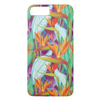 Strelitzia-Muster iPhone 8 Plus/7 Plus Hülle