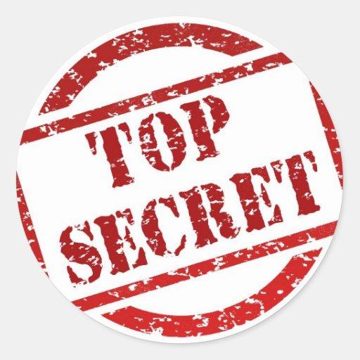 Streng geheim Bild Sticker