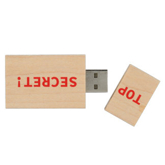 Streng geheim holz USB stick