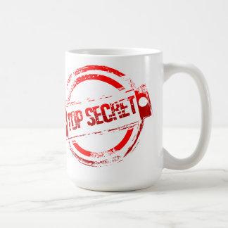 Streng geheim kaffeetasse