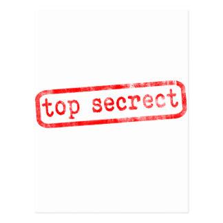 Streng geheim postkarte