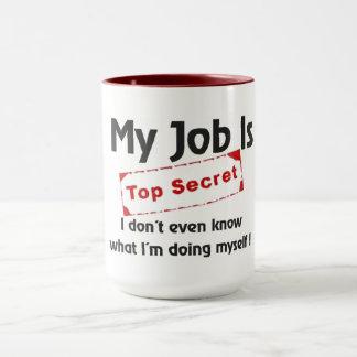 Streng geheim tasse