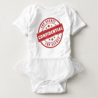Streng geheim vertrauliches Baby-Kleid Baby Strampler