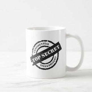 Streng geheim vertrauliches kaffeetasse