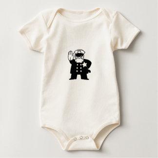 strenger Cartoon-Polizist Baby Strampler