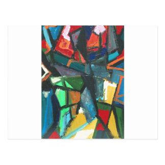 Strenger Innenraum (abstrakter Innenraum) Postkarte
