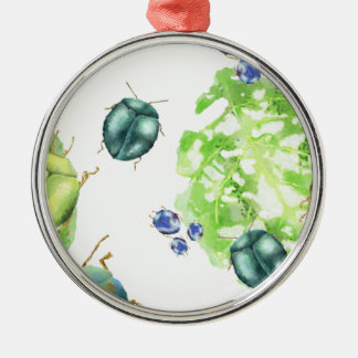 Streuungs-Käfer Rundes Silberfarbenes Ornament