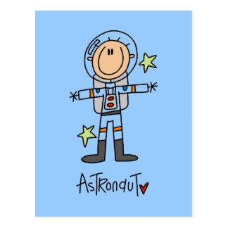 Strichmännchen-Astronauten-T - Shirts und Postkarte