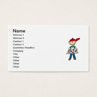 Strichmännchen-Backen-Plätzchen Visitenkarte