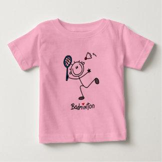 Strichmännchen-Badminton-T - Shirts und Geschenke