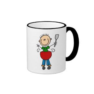 Strichmännchen Barbequeing T-Shirts und Geschenke Kaffee Haferl