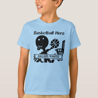 Strichmännchen-Basketball-Held T-Shirt