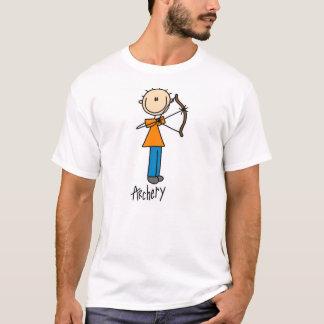 Strichmännchen-Bogenschießen-T - Shirt