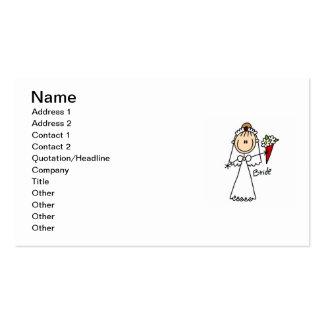 Strichmännchen-Braut-T-Shirts und Geschenke Visitenkarten Vorlagen
