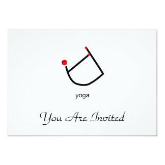 Strichmännchen der Bogenyoga-Pose mit Yogatext 12,7 X 17,8 Cm Einladungskarte