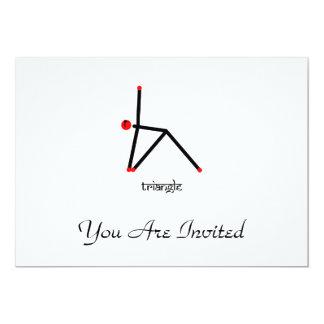 Strichmännchen der Dreieckyoga-Pose mit Sanskrit 12,7 X 17,8 Cm Einladungskarte