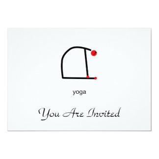 Strichmännchen der Kamelyoga-Pose mit Yogatext 12,7 X 17,8 Cm Einladungskarte