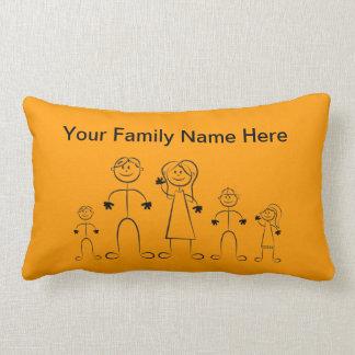 Strichmännchen-Familien-Kissen Kissen