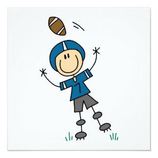 Strichmännchen-Fußball-Blau Ankündigungskarte
