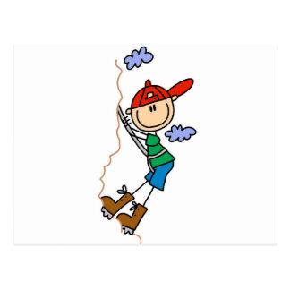 Strichmännchen-Gebirgskletternt-shirts und Postkarte