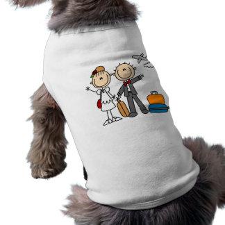 Strichmännchen-Hochzeits-Flitterwochen-T-Shirts un Shirt