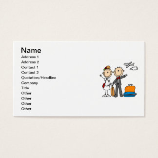 Strichmännchen-Hochzeits-Flitterwochen-T - Shirts Visitenkarte