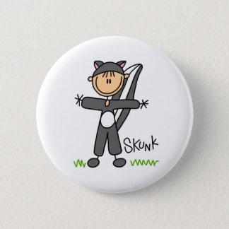 Strichmännchen im Stinktier-Anzugs-Knopf Runder Button 5,7 Cm