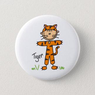 Strichmännchen im Tiger-Anzugs-Knopf Runder Button 5,1 Cm