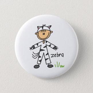 Strichmännchen im Zebra-Anzugs-Knopf Runder Button 5,7 Cm