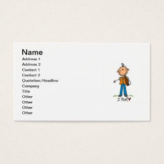 Strichmännchen-Jäger Visitenkarten