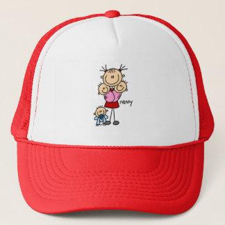 Strichmännchen-Kindermädchen-Hut Truckerkappe