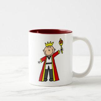 Strichmännchen-König Zweifarbige Tasse