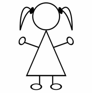 Strichmännchen-Mädchen Acryl Ausschnitte