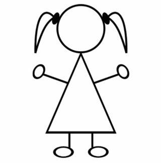 Strichmännchen-Mädchen Freistehende Fotoskulptur