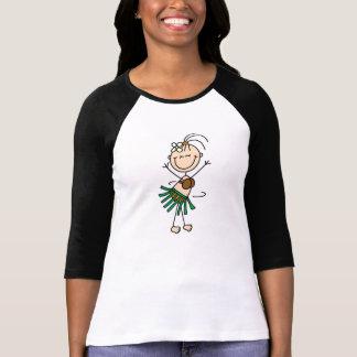 Strichmännchen-Mädchen Hula Tänzer-T - Shirt